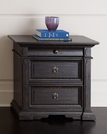 Royce Three-Drawer Nightstand
