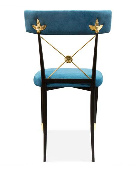 Jonathan Adler Rider Blue Dining Chair