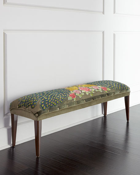 Haute House Long Peacock Bench