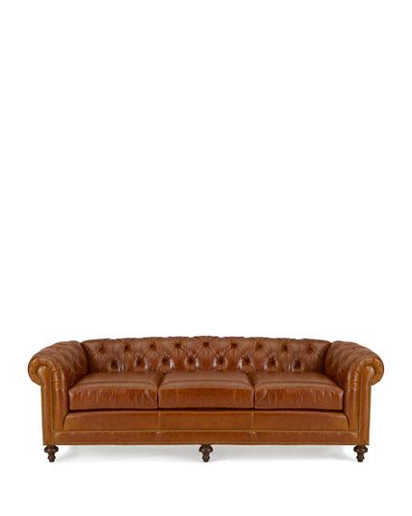 "Davidson 69"" Two-Cushion Chesterfield Sofa"
