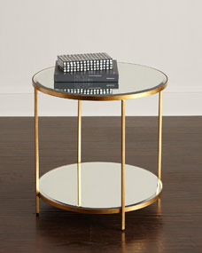 INTERLUDE Nolan Two-Tiered Side Table