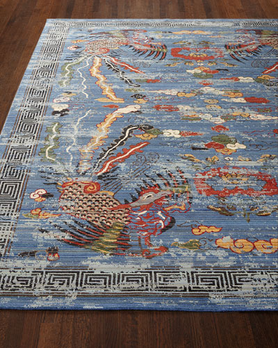 Imperial Blue Rug  5'6 x 8'