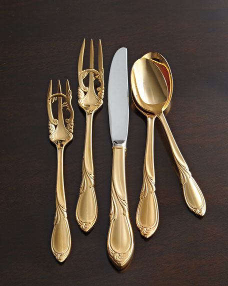 20-Piece 24-Kt. Gold-Plated Cache Flatware Service