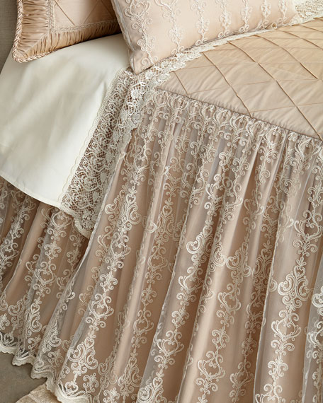 Queen Elizabeth Skirted Coverlet