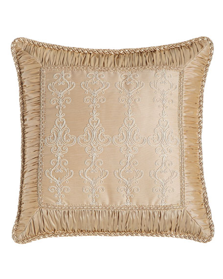 Elizabeth Lace Pillow with Ruched Border, 19