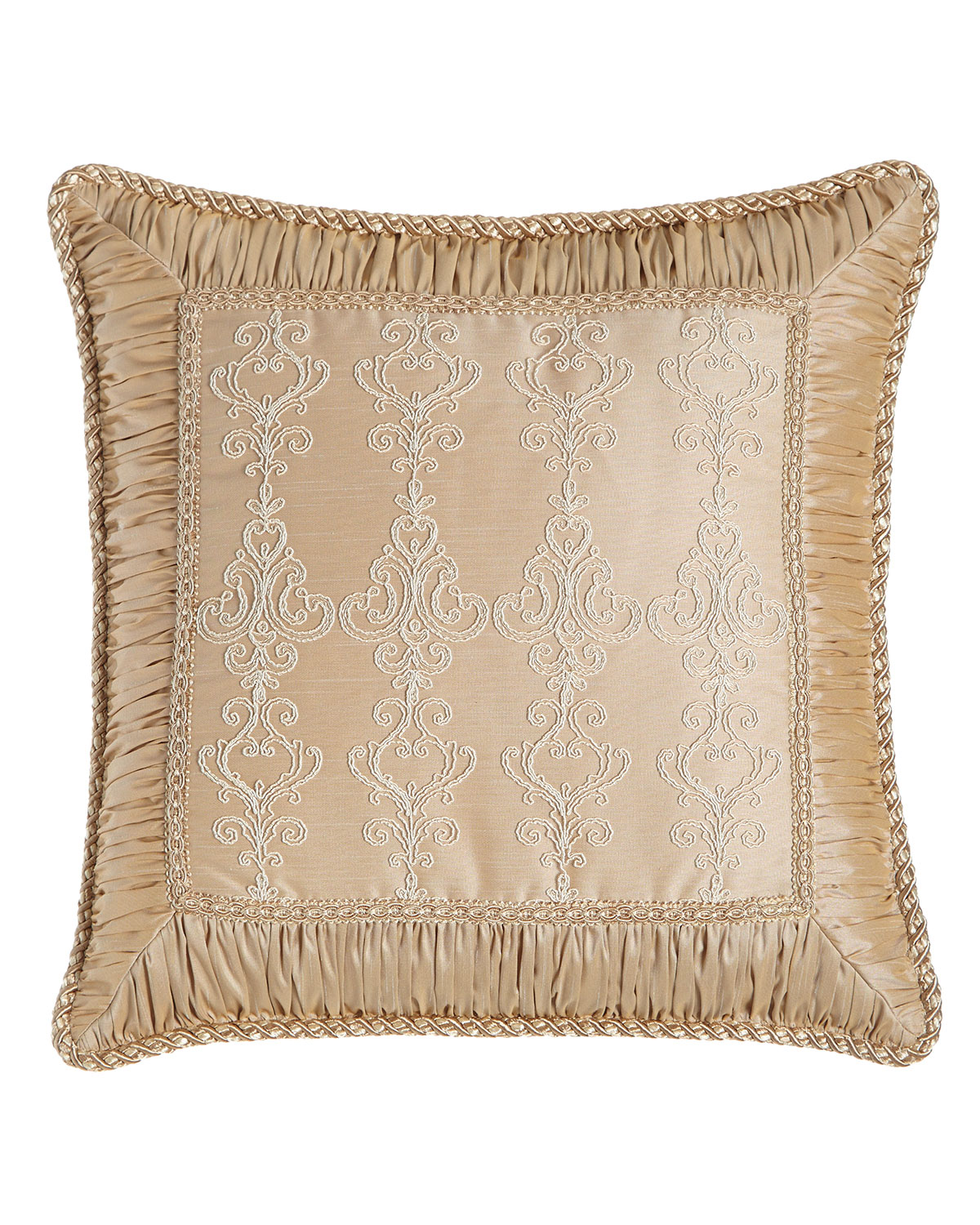 Sweet Dreams Elizabeth Lace Pillow With Ruched Border 19 Quot Sq