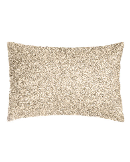 Pyar & Co. Palladium Beaded Pillow, 14