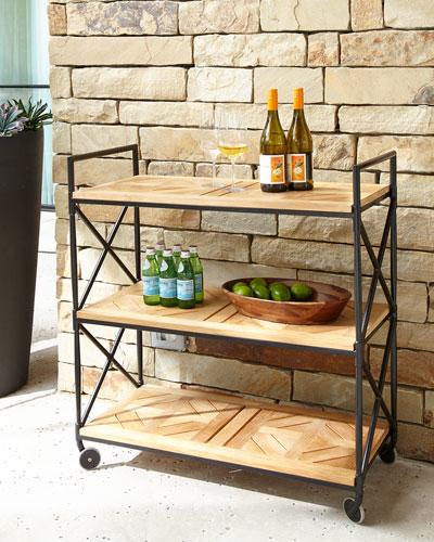 Neoclassical Outdoor Bar Cart