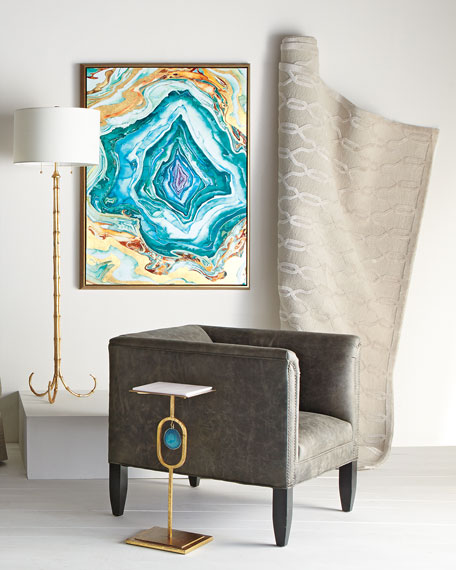 Eve Teal Agate Side Table