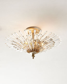 Viva 3-Light Semiflush Ceiling Fixture