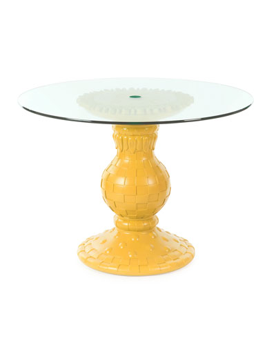 Sunflower Yellow Outdoor Table