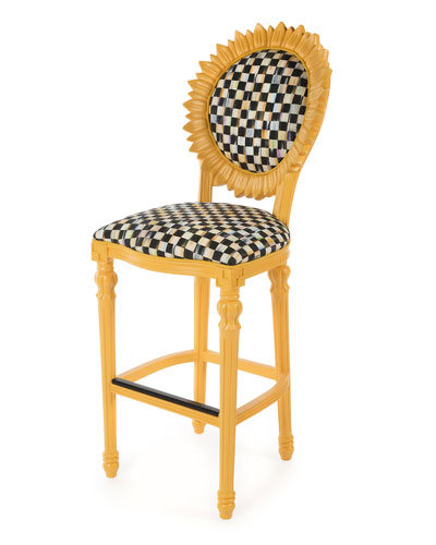 Sunflower Yellow Outdoor Barstool