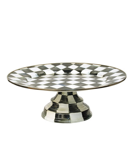 Large Courtly Check Pedestal Platter