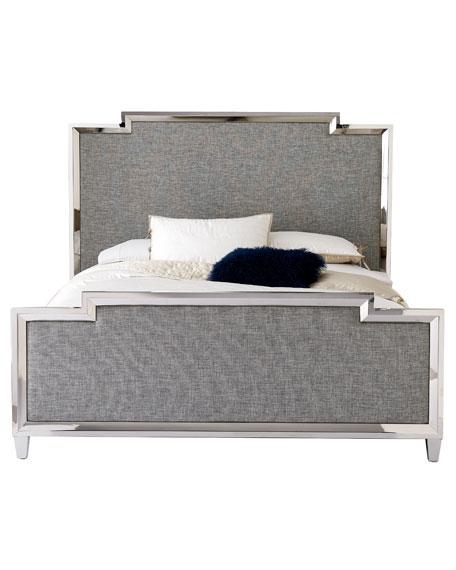 Criteria Metal Trim Upholstered Queen Bed