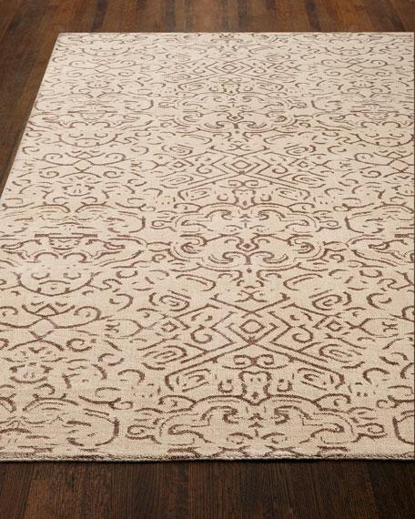 Etched Geometric Rug, 5' x 7'