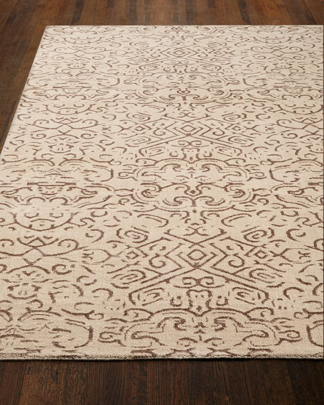 Etched Geometric Rug, 10' x 14'