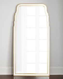 Queen Anne-Style Floor Mirror