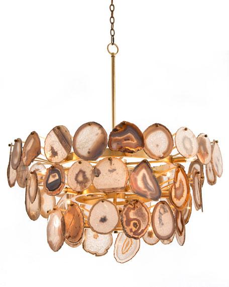 John richard collection agate sliced 15 light chandelier agate sliced 15 light chandelier mozeypictures Gallery