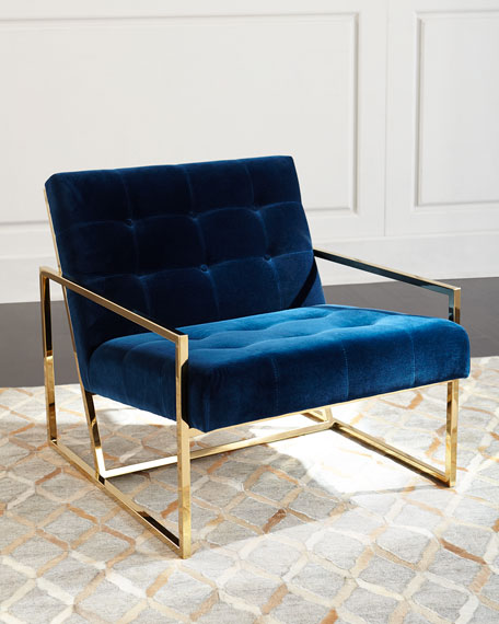 Marvelous Jonathan Adler Goldfinger Lounge Chair
