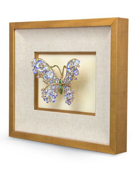 Single Mille Fiori Butterfly Wall Decor