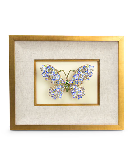 Single Mille Fiori Butterfly Wall Decor