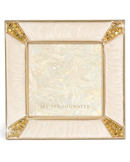 "Leland Gold Pave Corner 2"" Square Picture Frame"