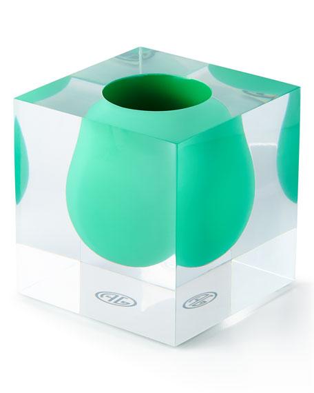 Bel Air Emerald Mini Scoop Vase