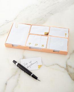 Sticky Note Set, Gold