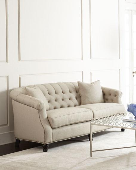 Superbe Naturelle Linen Tufted Sofa