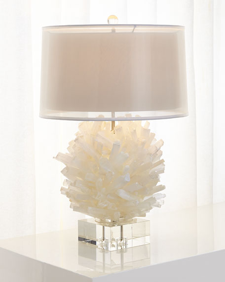 John Richard Collection Selenite Table Lamp
