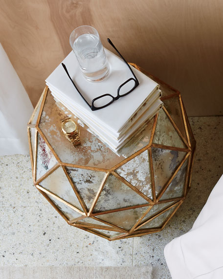 Zora Mirrored Hexagon End Table
