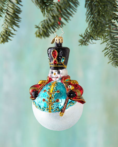 Christopher radko i m with the band christmas ornament