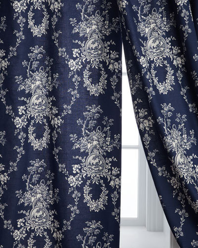 Two 96L Country Toile Curtains