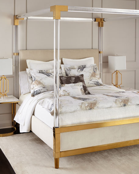 Bernhardt Hayworth Golden Acrylic King Bed