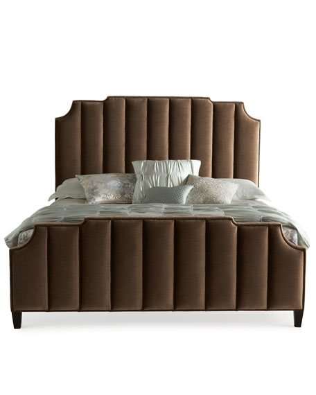 Bree Channel-Tufted Queen Bed
