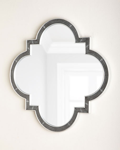 Monroe Faux-Shagreen Mirror