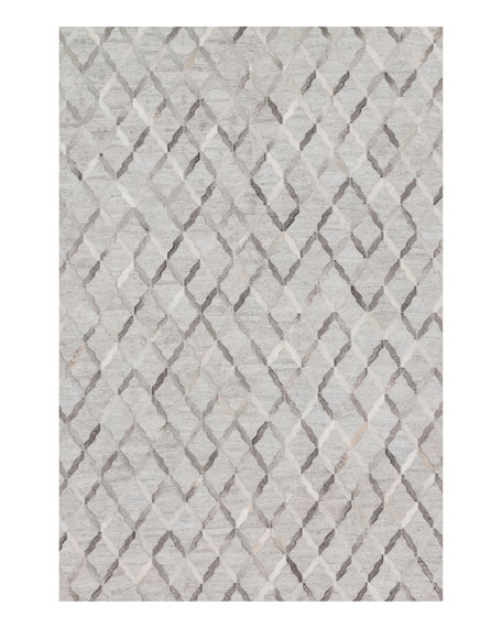 Audie Silver Hairhide Rug, 7'9