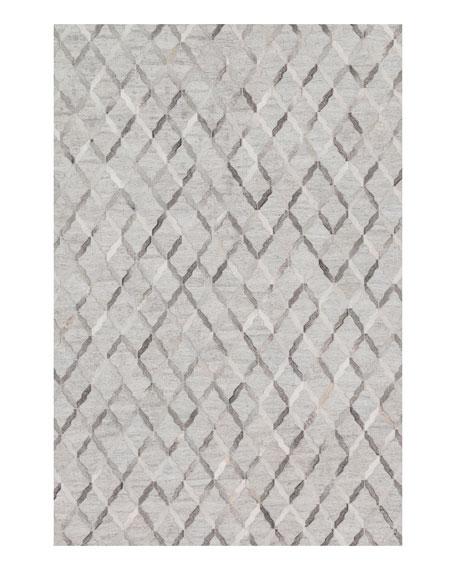 Audie Silver Hairhide Rug, 9'3