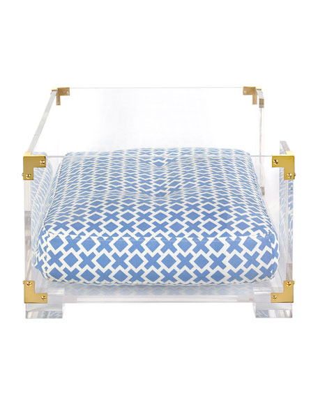 jonathan adler lucite & brass dog bed