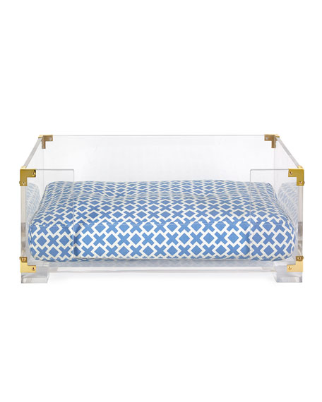 jonathan adler lucite brass dog bed