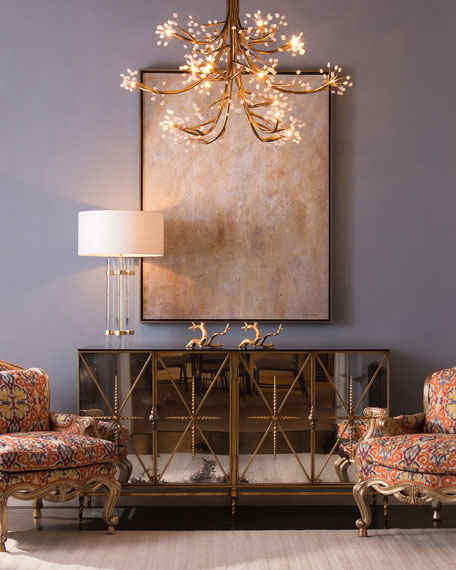 John Richard Collection Karrah Mirrored Console