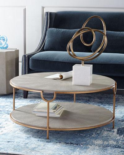 HCH8EG9 mk Global Views Olivia Marble Top Coffee Table