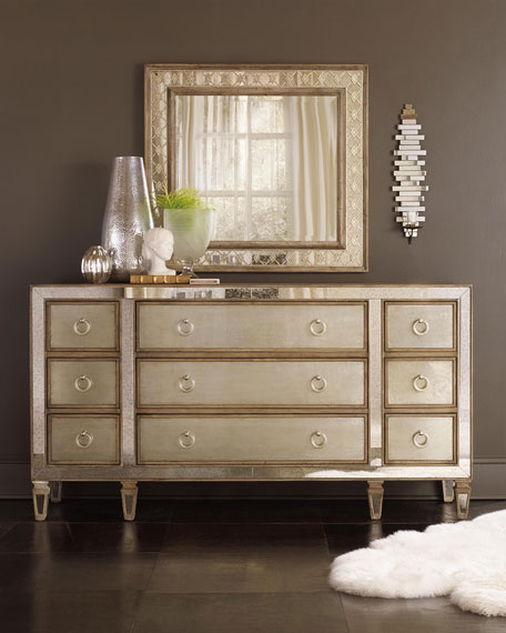 Incroyable Hooker Furniture Ilyse Mirror Trimmed Dresser