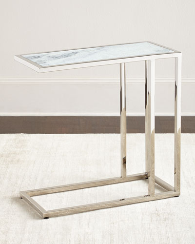 Etched Marble Side Table