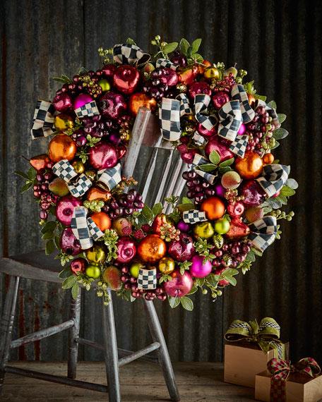 Mackenzie Childs Sugarplum Wreath Large