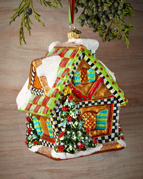 mackenzie childs gingerbread house christmas ornament - Gingerbread House Christmas Decoration