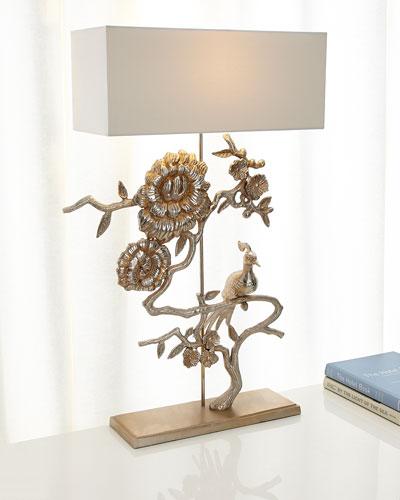 Morning Peacock Lamp