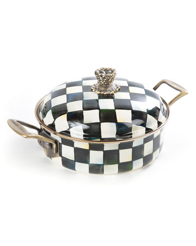 Courtly Check Enamel 3-Quart Casserole/Dutch Oven