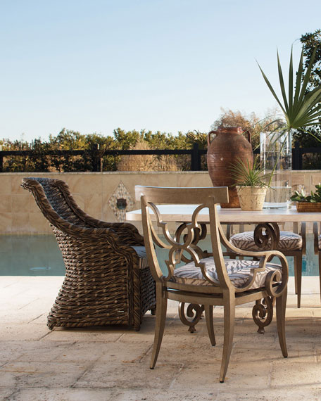 Hemingway Outdoor Wrought-Iron Dining/Accent Chair