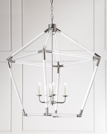 Lucite 4-Light Lantern